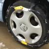 タイヤにチェーンを付けました